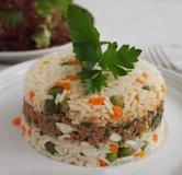 پلوی شاهانه سبزیجات و گوشت