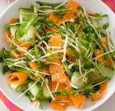 سالاد اندونزی سبزیجات با سس بادام زمینی
