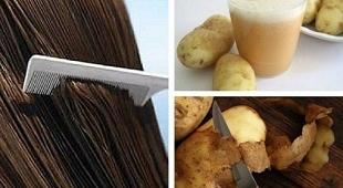 طرز تهیه ۴ نوع ماسک آب سیب زمینی برای رشد مو